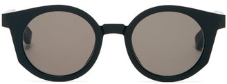 Mykita X Maison Margiela Acetate Sunglasses - Mens - Black