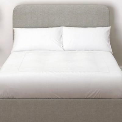 The White Company Melbury Wool Headboard, Light Grey Wool, Double