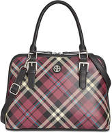 Giani Bernini Plaid Saffiano Dome Satchel, Created for Macy's