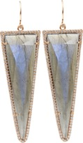 Irene Neuwirth JEWELRY Rose Cut Labradorite and Diamond Pave Earrings