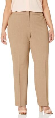 Nine West Women's Plus Size Solid Trouser Pant (2)