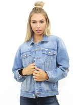 The Laundry Room Queen Stitch Happy Days Denim Jacket in Cape Cod