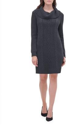 Tommy Hilfiger Cable-Knit Cotton-Blend Mini Sweater Dress