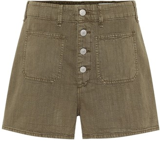 Rag & Bone Military high-rise cotton shorts