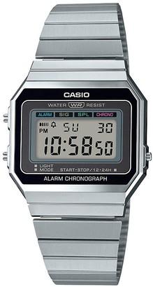 Casio Retro Black Digital Dial Stainless Steel Bracelet Watch