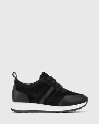 Edun Suede Leather Lace Up Sneakers