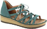 Naot Footwear Women's Sandals Teal - Teal Nubuck Yarrow Leather Wedge Sandal - Women