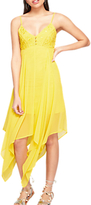 Miss Selfridge Lace Button Maxi Dress, Yellow