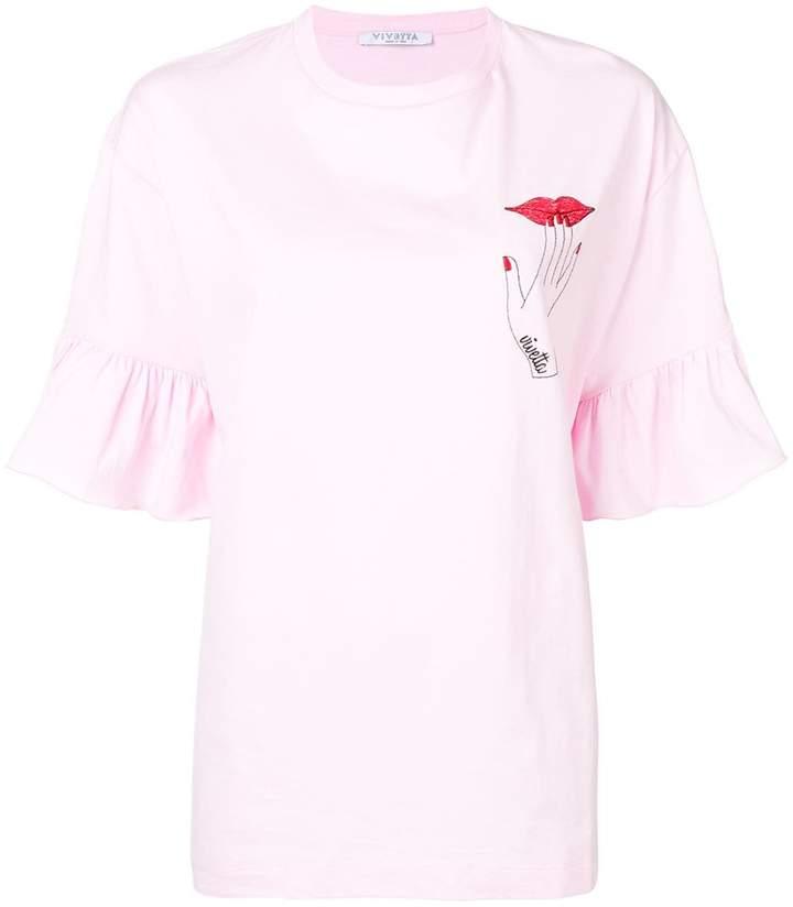 VIVETTA hand print oversized T-shirt