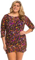 Anne Cole Plus Size Rosebud Mesh Cover Up Tunic 8137516