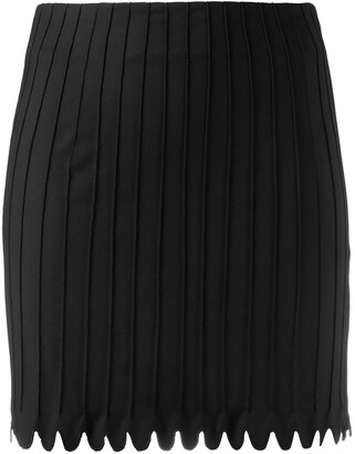 Coperni Ribbed-Design Mini Skirt