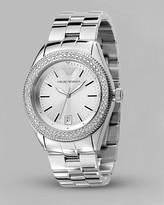 Oversized Pave Crystal Bezel Watch