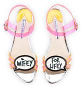 Sophia Webster Ellen Wifey For Lifey Speech Bubble Sandal, Pink/Orange