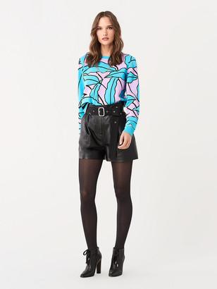 Diane von Furstenberg Paskavan Intarsia Knit Pullover