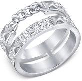 Swarovski Double-Row Pavé Statement Ring