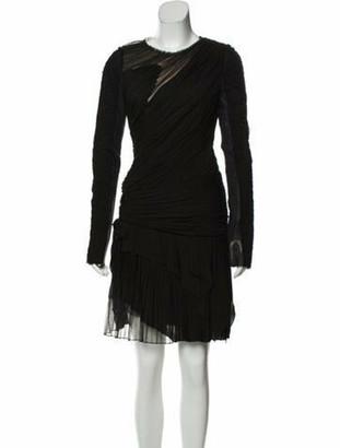 J. Mendel Long Sleeve Mini Dress Black