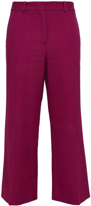 Victoria Beckham Cropped Crepe Wide-leg Pants