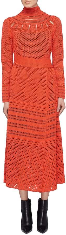 Proenza Schouler Crochet knit wrap dress
