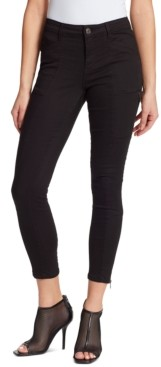 Skinnygirl Todd Mid-Rise Zipper-Trim Skinny Ankle Jeans