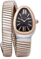 Bvlgari Serpenti 18K Rose Gold & Stainless Steel Tubogas Bracelet Watch