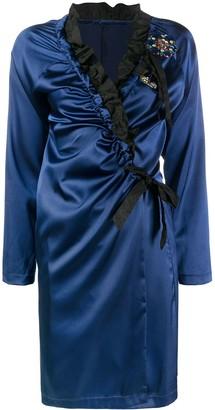 A.N.G.E.L.O. Vintage Cult 1990s Crystal-Embellished Wrap-Style Short Dress