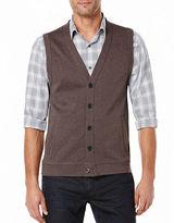 Perry Ellis Big and Tall Herringbone Sweater Vest