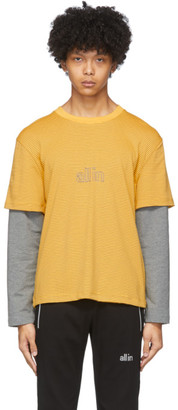 all in Yellow Striped Long Sleeve T-Shirt