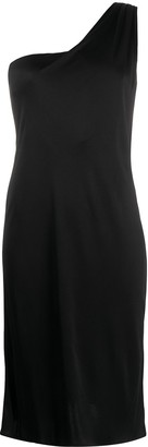 Versace Pre Owned single shoulder slim-fit dress