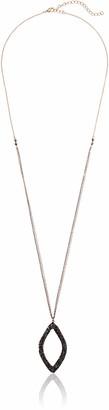 Panacea Luxe Hematite Marquis Pendant Necklace