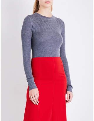 Joseph Ribbed-knit wool silk and cashmere-blend jumper
