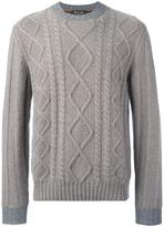 Loro Piana diamond cable knit jumper