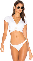 Vitamin A Ballerina Bikini Top in White. - size L (also in S,XS)