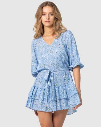 Three of Something Women's Mini Dresses - Summer Skies Melody Dress - Size One Size, S at The Iconic