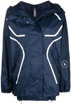 adidas by Stella McCartney Logo-Print Hooded Jacket