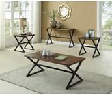 Carreras Distressed Wooden 3 Piece Coffee Table Set Brayden Studio