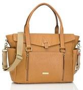 Storksak Infant 'Emma' Leather Diaper Bag - Beige
