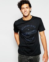 Quiksilver T-shirt With Boarding Apparel Print - Black