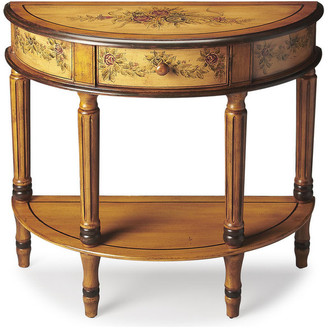 Butler Mozart Light Hand Painted Demilune Console Table