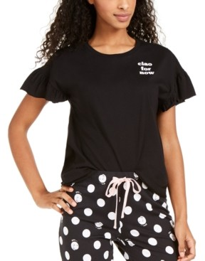 Jenni Ruffle-Sleeve Pajama T-Shirt, Created for Macy's