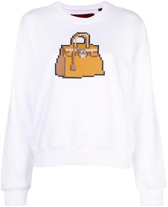 Mostly Heard Rarely Seen 8 Bit Brick crew neck sweatshirt