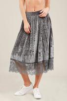POL Pleated Velvet Skirt