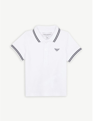 Emporio Armani Logo cotton polo shirt 6-36 months