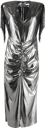 Rotate by Birger Christensen Metallic Midi Dress