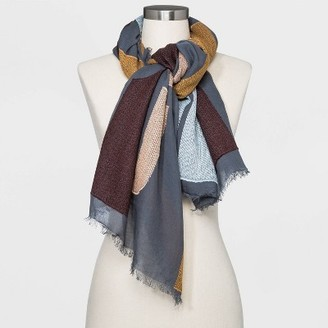 Women's Jacquard Oversized Square Scarf - Universal ThreadTM Steel