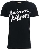 MAISON KITSUNÉ handwriting logo print T-shirt - women - Cotton - S