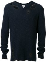 Miharayasuhiro cotton slub knit pullover - men - Cotton - 48