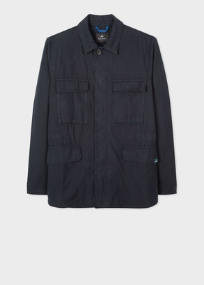 Paul Smith Men's Dark Navy Cotton Field Jacket