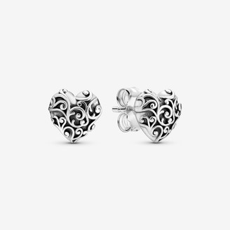 Pandora Regal Heart Stud Earrings