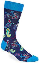 Bugatchi Mercerized Floating Paisley Mid-Calf Socks