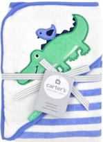 Carter's Alligator Hooded Towel - Blue